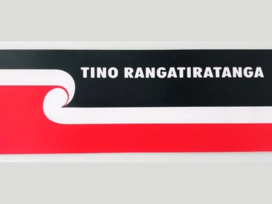 Tino Rangatiratanga Maori Flag - car bumper sticker