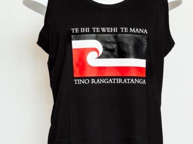 Tino Rangatiratanga Maori Flag - tane loose fit singlet